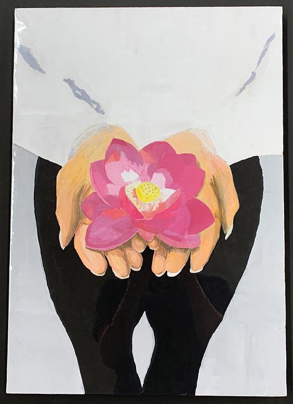 手に乗っている花